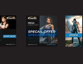 #65 for Create 3 banner for: black friday, Stock and offers by MohammadIsmail02
