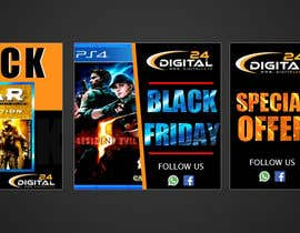#72 for Create 3 banner for: black friday, Stock and offers by iammita1995