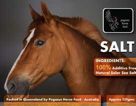nº 45 pour Design a label for horse salt par GhaithArt