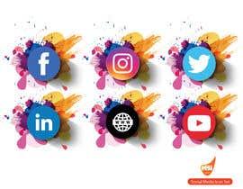 Nro 50 kilpailuun Social Media Icon Set käyttäjältä msisamiul