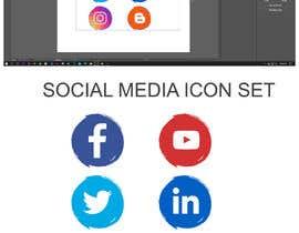 Nro 63 kilpailuun Social Media Icon Set käyttäjältä bayzidsobuj