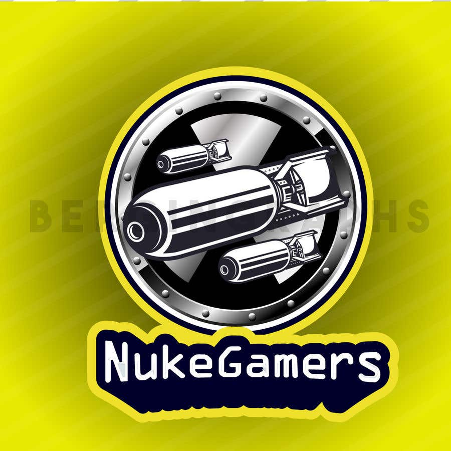 """Penyertaan Peraduan #                                        9                                      untuk                                         I need an graphic design for an GamingClan image, the Clan Name is Called: """"NukeGamers"""