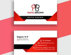 #18 para Require a Business card ,  letter head and envelope  for my company named Rapid brown, por MahafujHossain