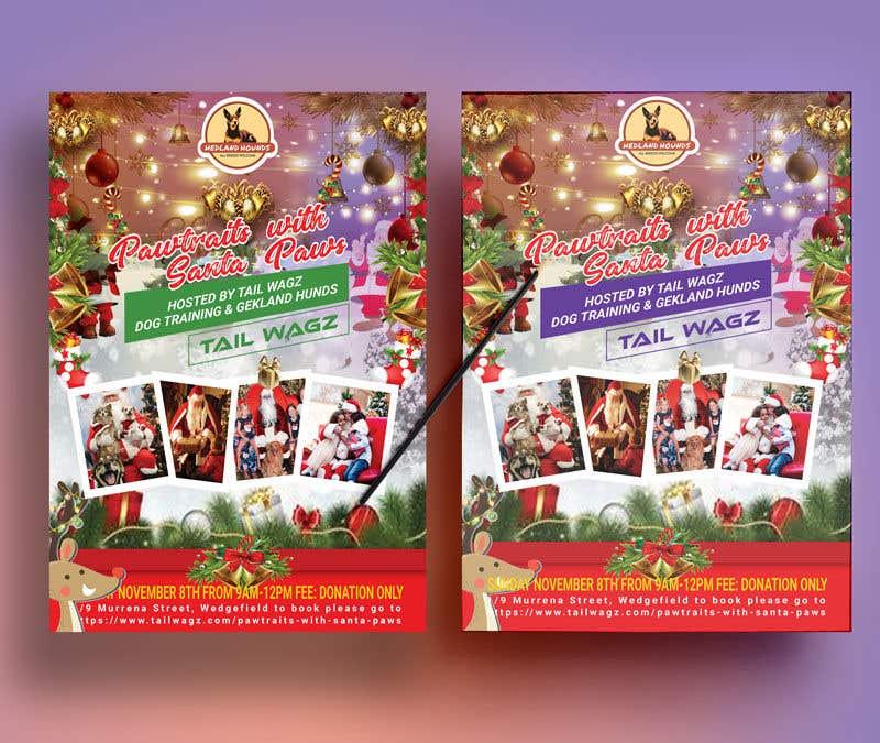 Kilpailutyö #                                        43                                      kilpailussa                                         Brochure to advertise dog christmas event