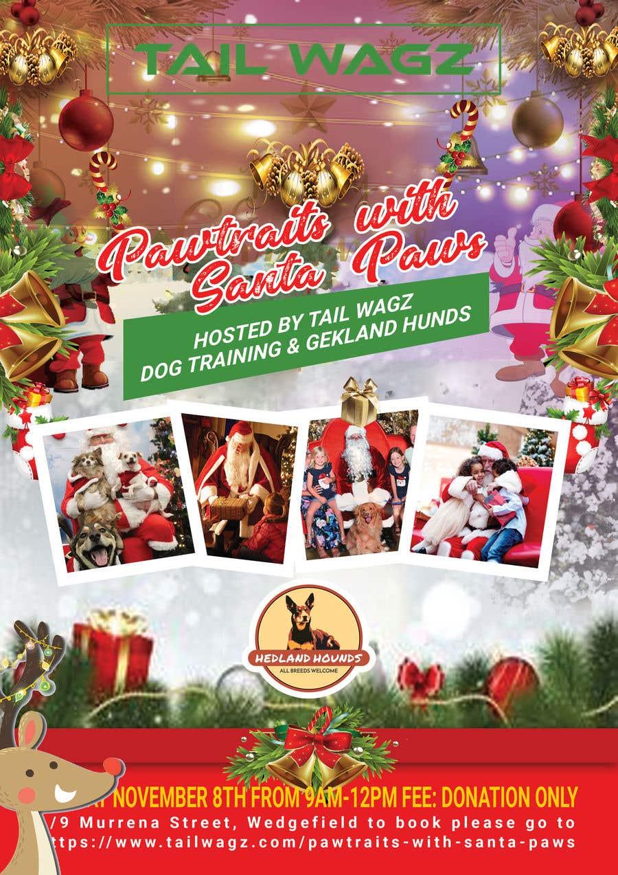Kilpailutyö #                                        47                                      kilpailussa                                         Brochure to advertise dog christmas event