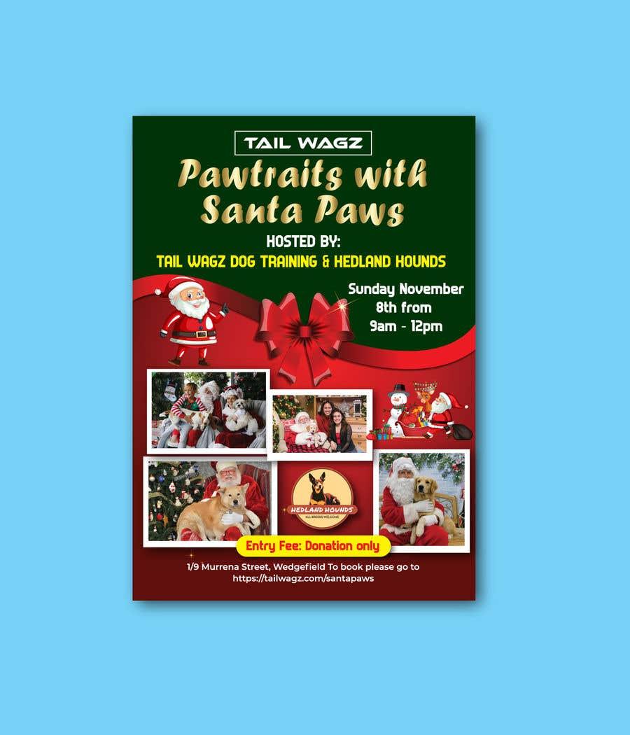 Kilpailutyö #                                        54                                      kilpailussa                                         Brochure to advertise dog christmas event