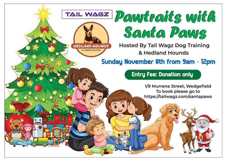 Kilpailutyö #                                        66                                      kilpailussa                                         Brochure to advertise dog christmas event