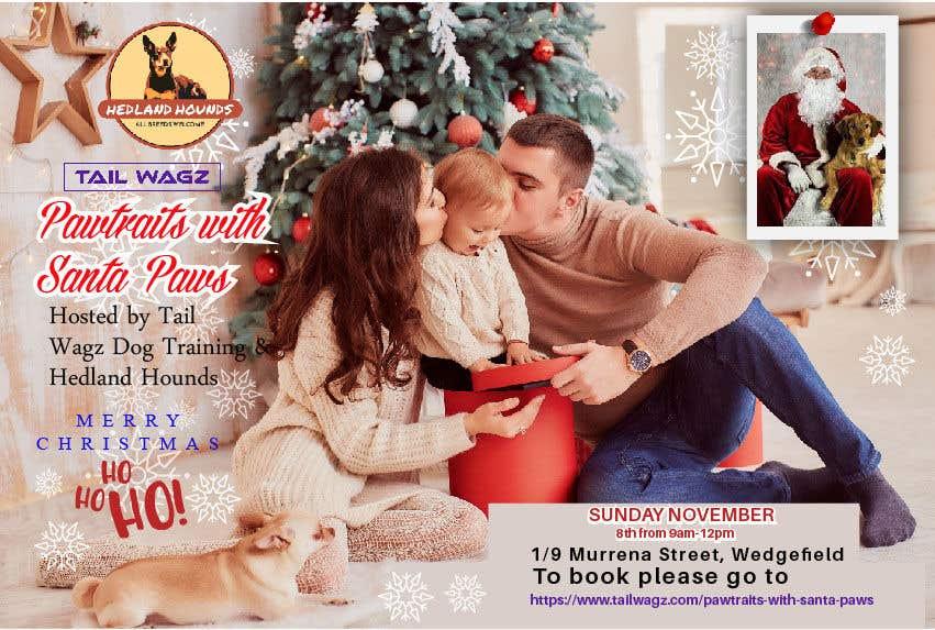 Kilpailutyö #                                        68                                      kilpailussa                                         Brochure to advertise dog christmas event