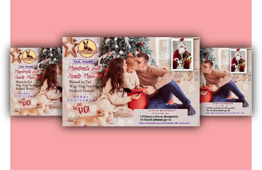 Kilpailutyö #                                        69                                      kilpailussa                                         Brochure to advertise dog christmas event