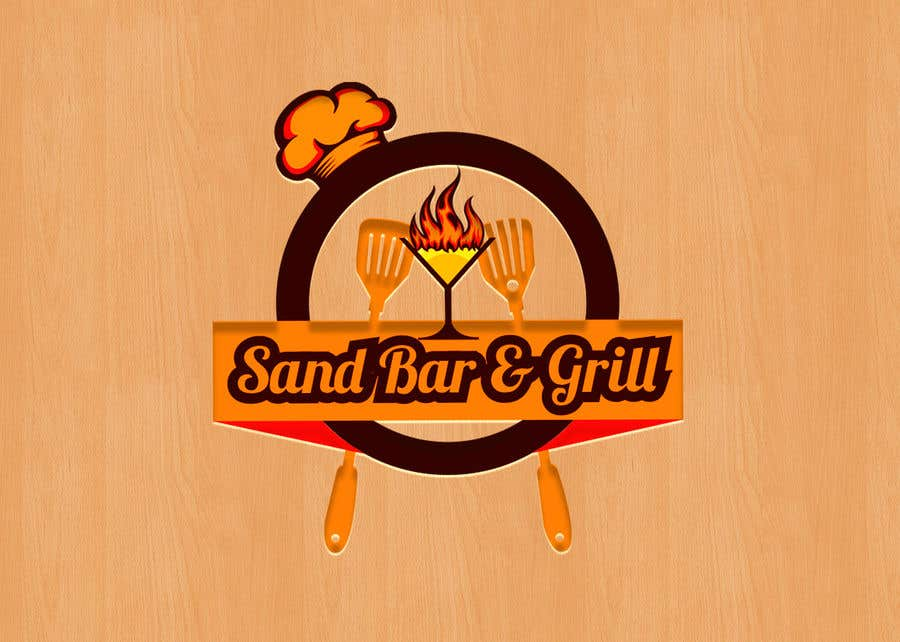 Konkurrenceindlæg #                                        91                                      for                                         Logo for Sand Bar & Grill - Menu Redesign