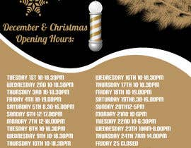 #3 cho Christmas Opening Hours Graphic Barbershop Business bởi pusztineagnes