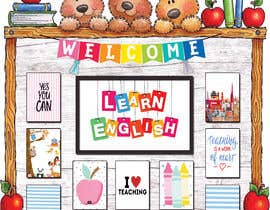 #10 for Design a Printable Backdrop for English Teacher by ahmedsiamXI