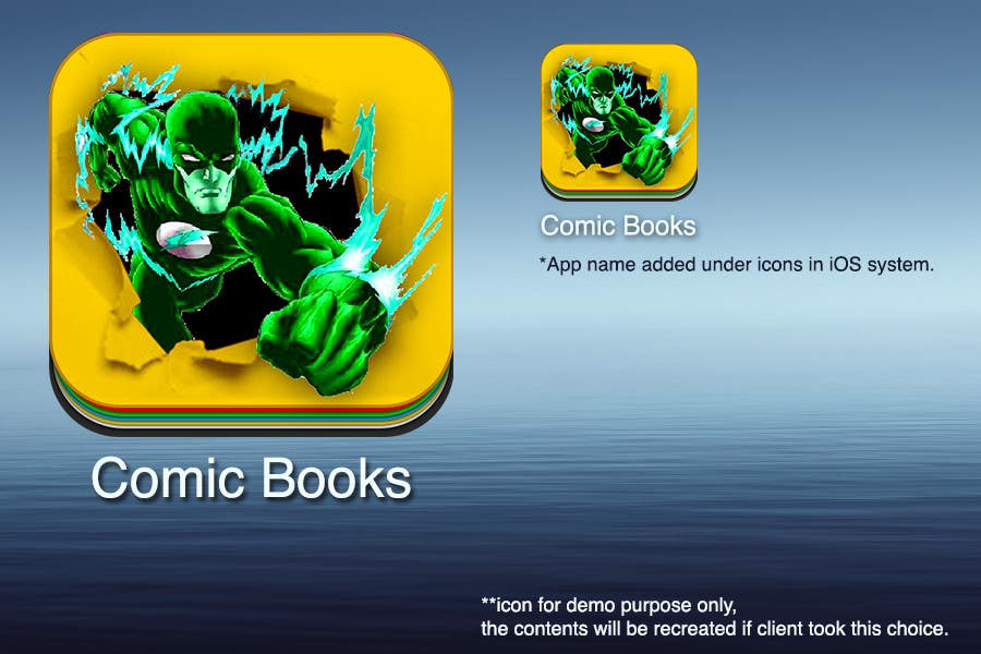 Inscrição nº                                         51                                      do Concurso para                                         Icon or Button Design for iOS comic book icon