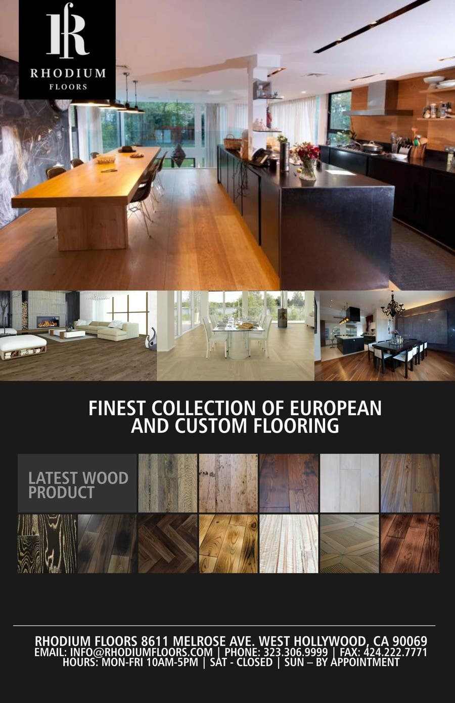 Entri Kontes #11 untukDesign a Flyer for Rhodium Floors