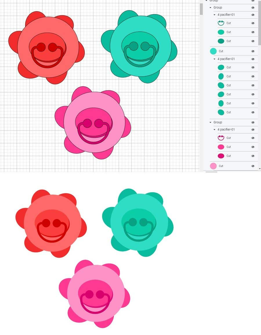 Kilpailutyö #                                        44                                      kilpailussa                                         Original Clipart Design, Baby Clipart