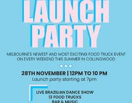 #6 for A6 event invitation for food truck launch party by deepakkerkar12
