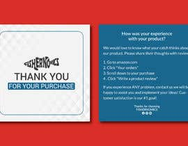 #39 untuk Help design my thank you card for Amazon oleh apuahammed96