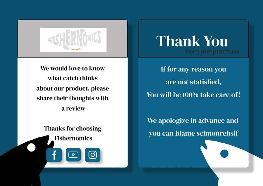 Penyertaan Peraduan #                                        36                                      untuk                                         Help design my thank you card for Amazon