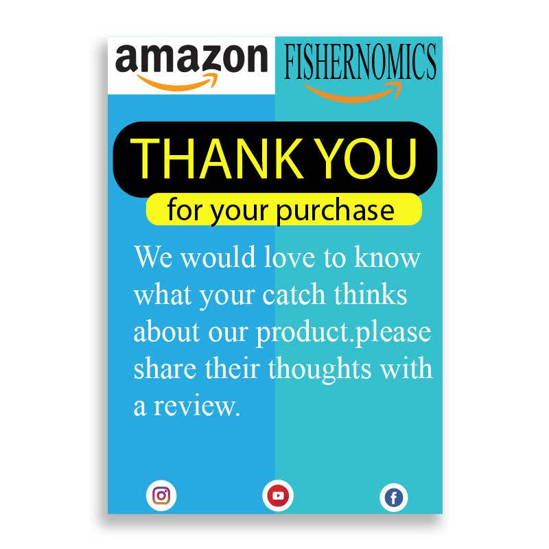 Penyertaan Peraduan #                                        6                                      untuk                                         Help design my thank you card for Amazon