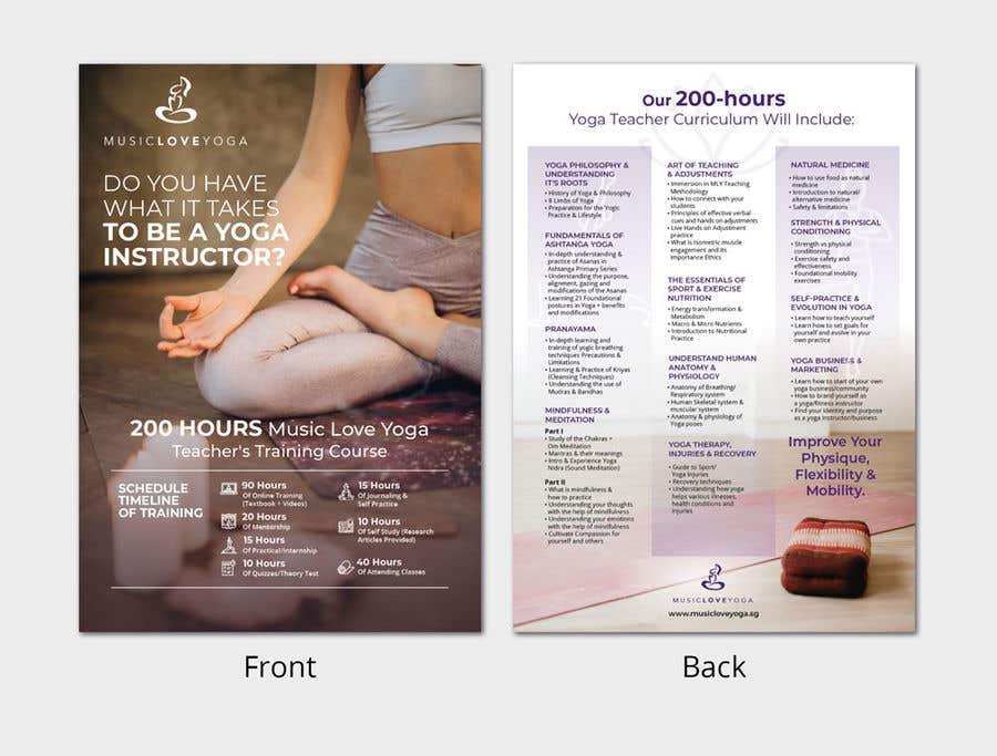 Kilpailutyö #                                        59                                      kilpailussa                                         Design a clean yoga teacher brochure