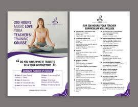 #70 for Design a clean yoga teacher brochure by kishankantsaini