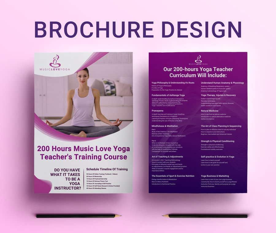 Kilpailutyö #                                        35                                      kilpailussa                                         Design a clean yoga teacher brochure