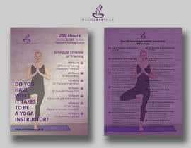 #46 for Design a clean yoga teacher brochure by imranislamanik