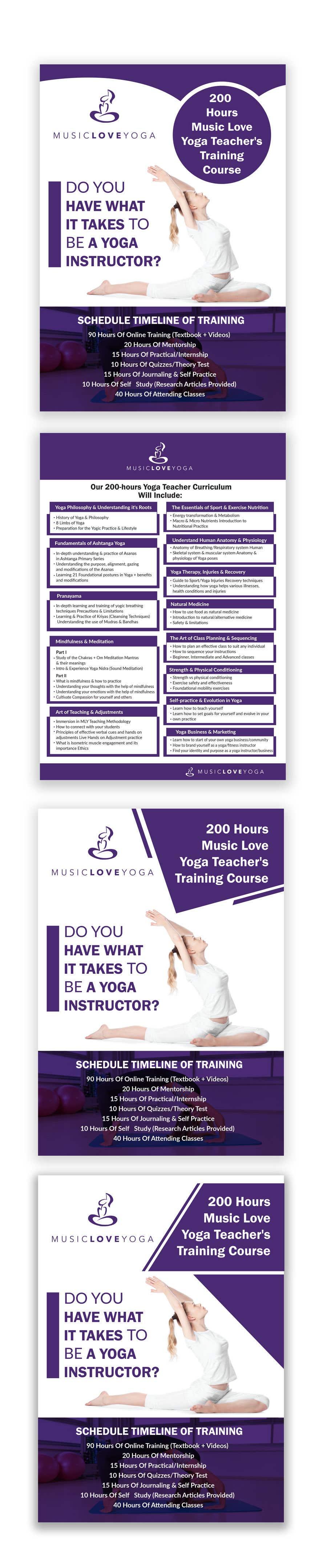 Kilpailutyö #                                        54                                      kilpailussa                                         Design a clean yoga teacher brochure