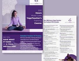 #75 for Design a clean yoga teacher brochure by khaledparvez123