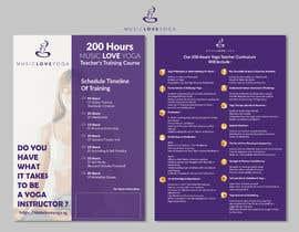 #6 for Design a clean yoga teacher brochure by valentinikid80