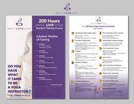 #25 for Design a clean yoga teacher brochure by valentinikid80