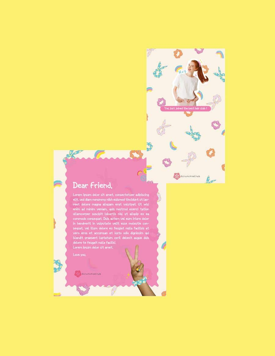 Contest Entry #                                        10                                      for                                         Letter Template & Hair Scrunchie Packaging