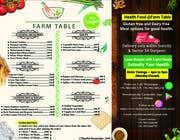 Graphic Design Kilpailutyö #28 kilpailuun Design a Health Food Menu Card for Farmtable Restaurant