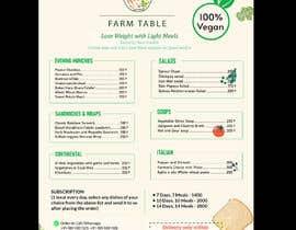 Nro 36 kilpailuun Design a Health Food Menu Card for Farmtable Restaurant käyttäjältä moslehu13