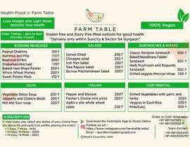 Nro 13 kilpailuun Design a Health Food Menu Card for Farmtable Restaurant käyttäjältä tarekahammed