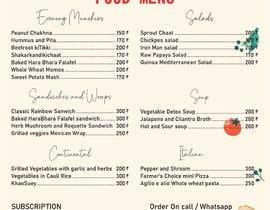Nro 30 kilpailuun Design a Health Food Menu Card for Farmtable Restaurant käyttäjältä ibnusoffyan
