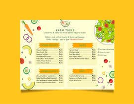 Nro 5 kilpailuun Design a Health Food Menu Card for Farmtable Restaurant käyttäjältä rhrahim30