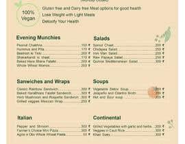 Nro 33 kilpailuun Design a Health Food Menu Card for Farmtable Restaurant käyttäjältä mgnngn