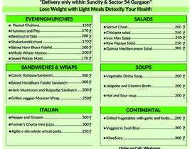 Nro 12 kilpailuun Design a Health Food Menu Card for Farmtable Restaurant käyttäjältä fardint92
