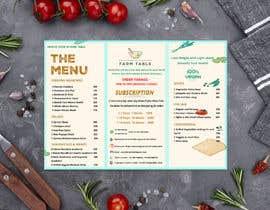 Nro 14 kilpailuun Design a Health Food Menu Card for Farmtable Restaurant käyttäjältä Sami4002