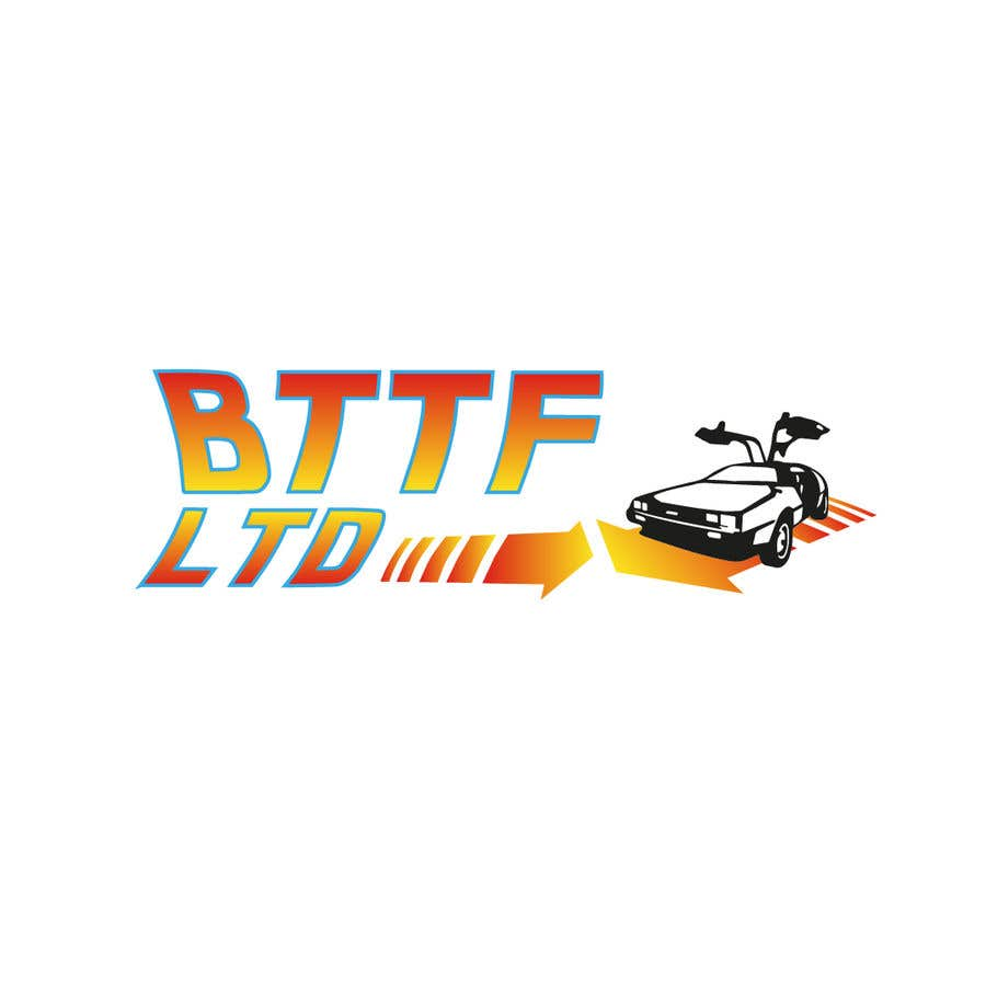 Konkurrenceindlæg #                                        145                                      for                                         Design a logo for a Back To The Future Car Hire Company called BTTF LTD