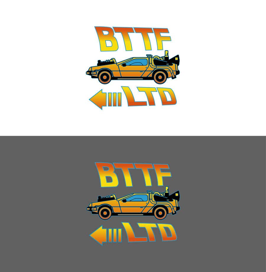 Konkurrenceindlæg #                                        159                                      for                                         Design a logo for a Back To The Future Car Hire Company called BTTF LTD