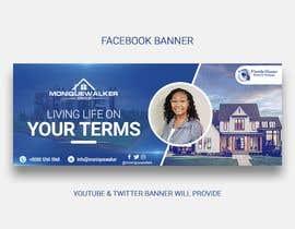 Nro 80 kilpailuun Facebook Youtube Twitter Realtor Banner käyttäjältä naymulhasan670