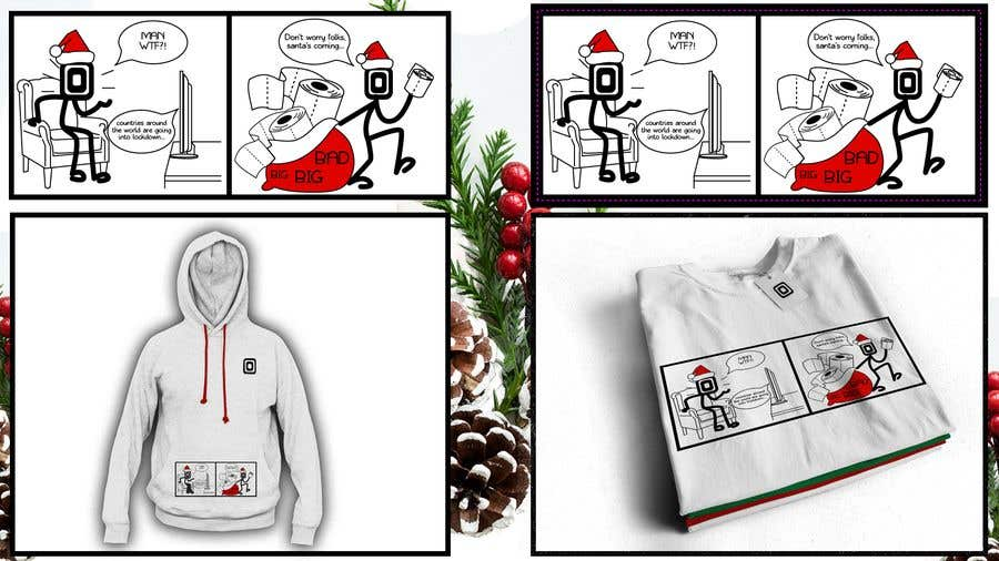 Konkurrenceindlæg #                                        16                                      for                                         Design for T-Shirt/Hoodie (funny christmas 2020 with my company's figure)