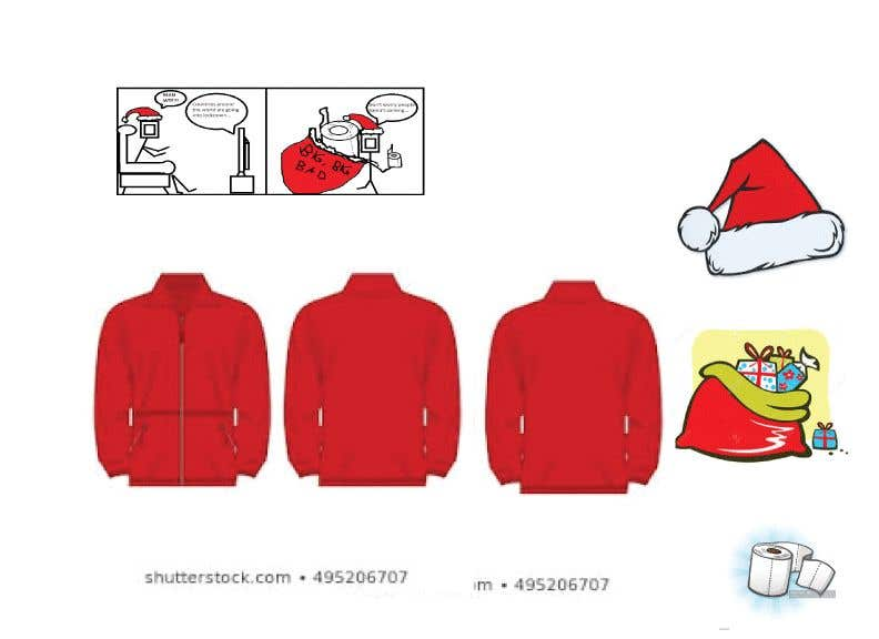 Konkurrenceindlæg #                                        22                                      for                                         Design for T-Shirt/Hoodie (funny christmas 2020 with my company's figure)