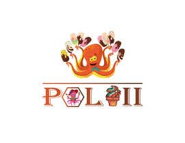 #75 for create a logo for an ice cream shop with this name: POLVII and with the figure of the octopus. af TamalurRahman