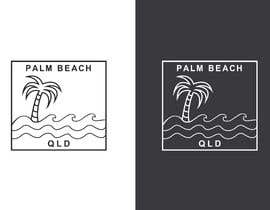 #61 for Minimalist t-shirt design - Wave and Palm Tree - Black and white - basic af mdminu