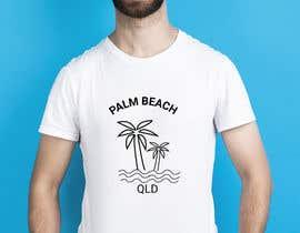 #146 for Minimalist t-shirt design - Wave and Palm Tree - Black and white - basic af rubinarupu91