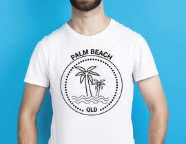 #148 for Minimalist t-shirt design - Wave and Palm Tree - Black and white - basic af rubinarupu91