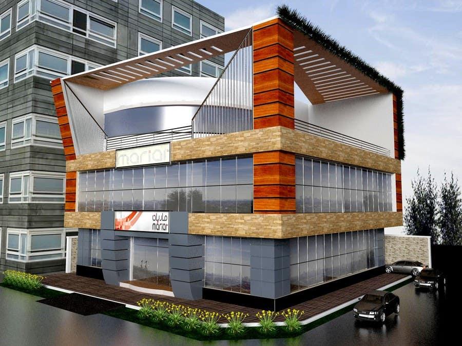 Participación en el concurso Nro.                                        20                                      para                                         Elevations for an office building